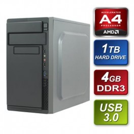 AMD A4 6320 Dual Core 3.80Ghz 4GB RAM 1TB Hard Drive DVDRW