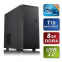 Intel i3-6100 3.7GHz Dual Core Skylake 8GB Kingston 2133MHz DDR4 RAM 1TB Seagate HDD